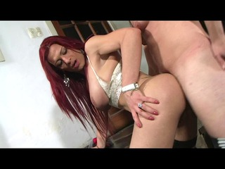 redhead ladyman takes it is in the arse