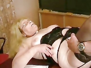 bulky old german golden-haired drilled and cummed