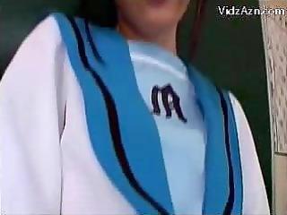juvenile schoolgirl in uniform getting her twat