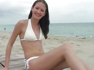 hot floozy from the beach is hailey youthful