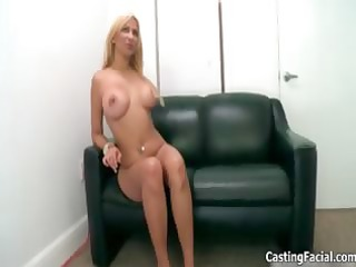 wicked golden-haired bitch takes her garments off