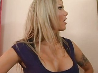 breathtaking breasty golden-haired does oral