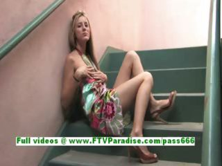 tina superb golden-haired honey flashing whoppers