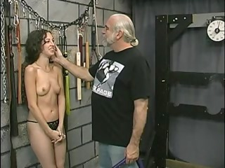 young tattooed bdsm sufferer angel receives her