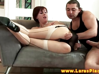 glamour aged doxy receives irrumation from her