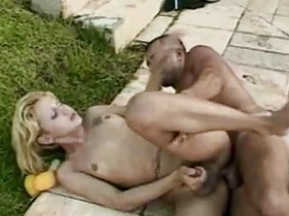 sexy tgirl loving by the rocks