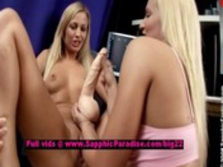 ingrid and larissa lusty lesbo teenies toying