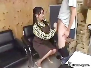 lovely japanese office bitch with a shaggy love