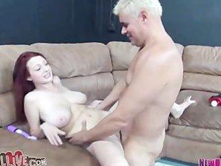 milky white redhead smokin