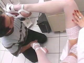 worshipping the doctors feet