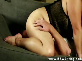 big beautiful woman sits on face using her large
