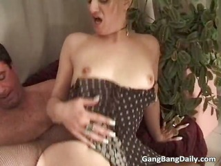 filthy golden-haired mother i caught in hardcore