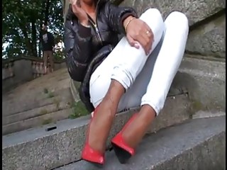 lgh - tamia public extrem heels und stockings