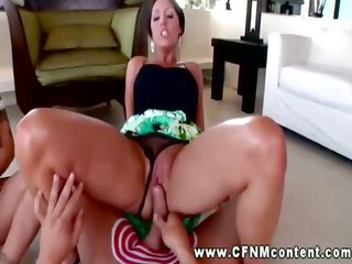 cfnm hottie grinding snatch on wang and can not