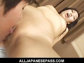 naughty chris ozawa has a sexy cum facial