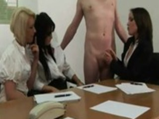 office voyeurs see the sexy cook jerking act at