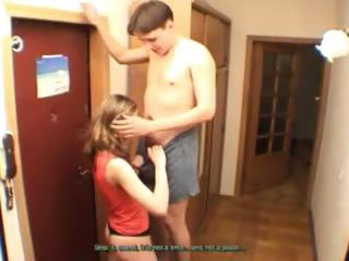 amateurs pair cook jerking at corridor