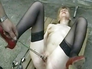 sexy and lascivious serf is spanked on her arse