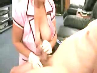nurse exploring dick