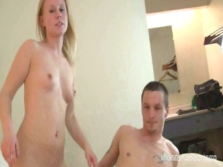 blond non-professional porn casting at local motel