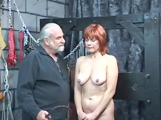 mature redheaded slave with saggy pointer sisters