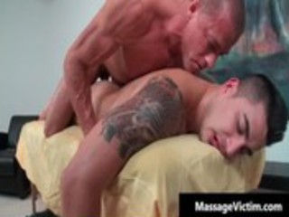 hawt and lewd man acquires the massage homosexual