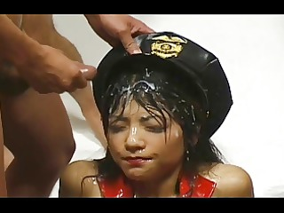 oriental bukkake - 310 cumshots on one face -