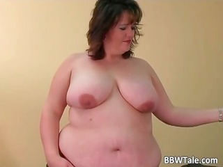 obese doxy have pleasure with her large sextoy
