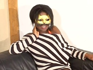 mysterious masked girl screwed in all holes,