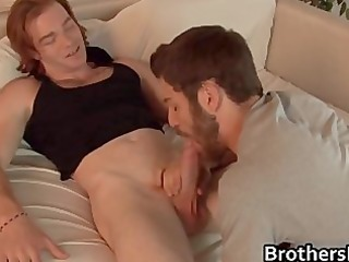 brothers hawt boyfriend acquires pecker sucked