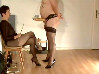 slave is serving his domina