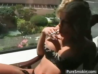 cute blond mother i smokes cigarettes part4