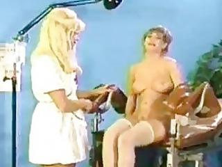 nasty golden-haired lesbo nurse ple...