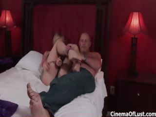 naughty golden-haired whore receives lascivious