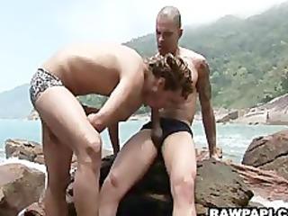 latino homo porn bareback sex on the sand