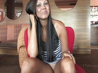 tessa brunette hair honey flashing her cunt and