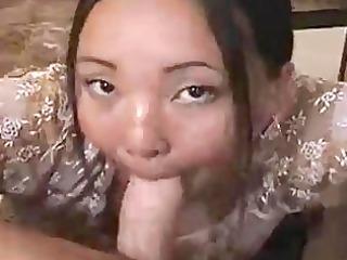 miniature asian whore enjoys givin...