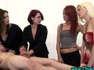 cfnm femdom whores acquire to abuse lad thonged