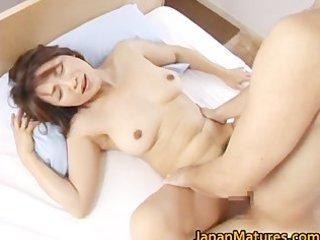 concupiscent japanese aged sweethearts engulfing