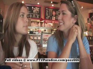 lina and danielle delicate lesbos public flashing