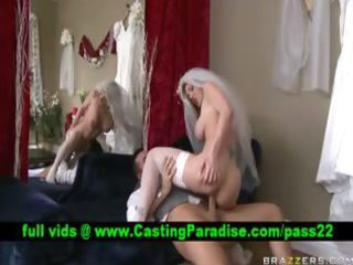 kayla paige blond bride fucking and receives