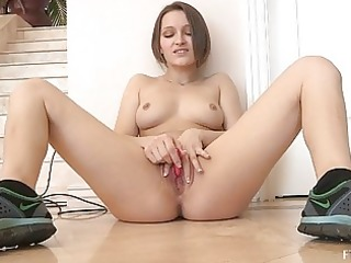 dani nasty dark brown sweetheart toying cum-hole