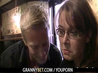 breasty mamma is picked up in the bar and drilled