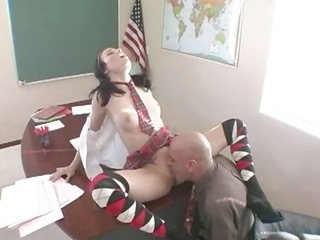 hawt rawboned student copulates on a chair
