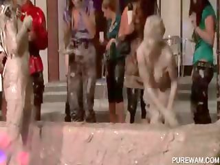 mud wrestling with indecent dressed angels