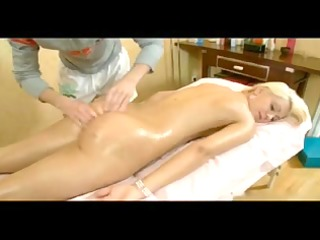blonde gets massage and greater amount...