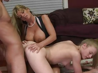 lewd stepmom shares penis with a legal age