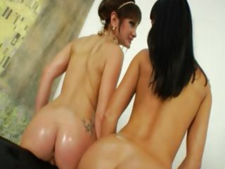 extraordinary lezzie sweethearts dildoing butt