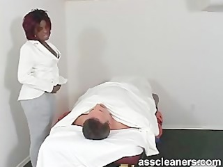complaining patient is smothered by plump ebon