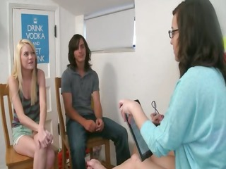teenager angels playing with sex-toy schlong